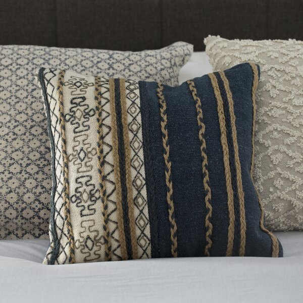 Huynh Handmade Cotton Throw Pillow by Mistana