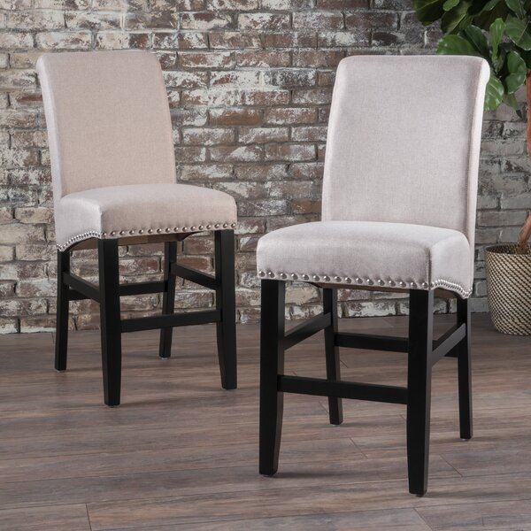 Lafountain Fabric Counter Accent Stool (Set of 2) by Darby Home Co