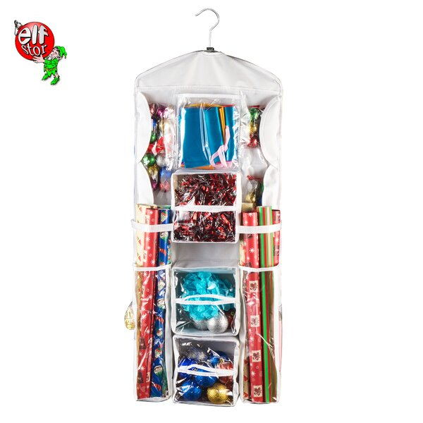 Hanging Gift Wrap Storage Bag by The Holiday Aisle