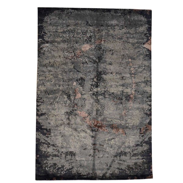 One-of-a-Kind Eddins Hand-Knotted Gray Area Rug by 17 Stories
