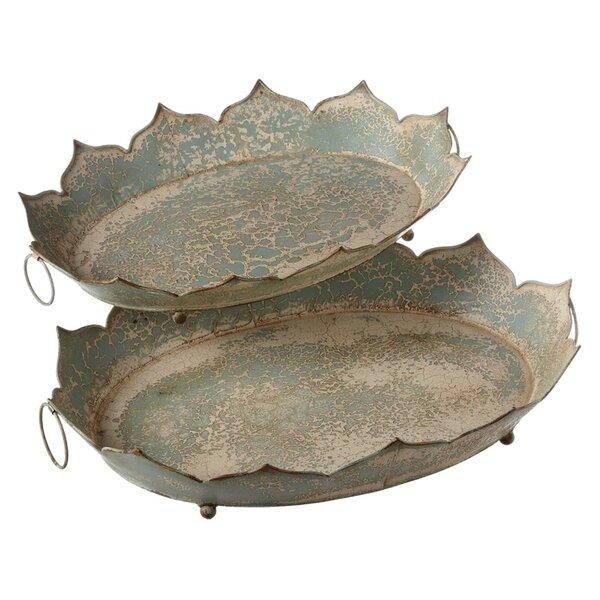 Decorative Petal Tray Set (Set of 2) by One Allium Way