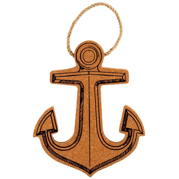 Anchor Shaped Cork and Rope Trivet by Thirstystone