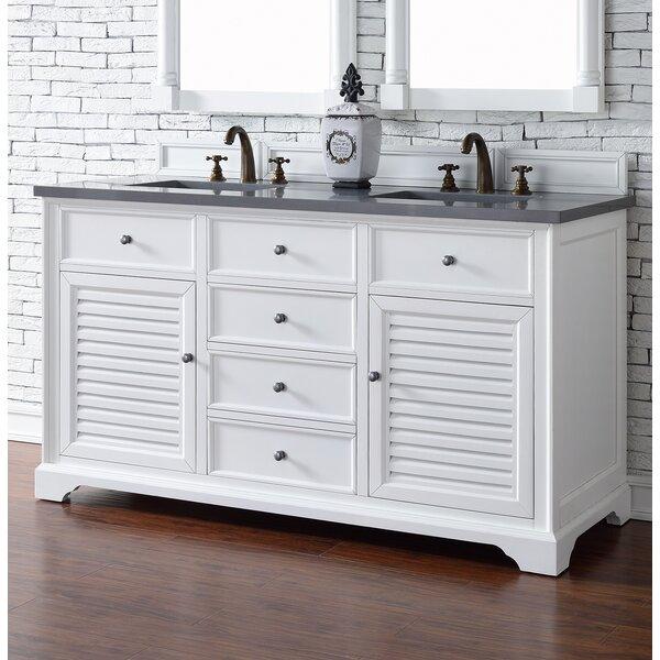 Osmond 60 Double Cottage White Bathroom Vanity Set by Greyleigh