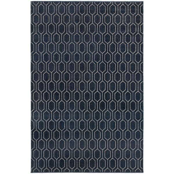 Oren Navy/Grey Area Rug by Langley Street
