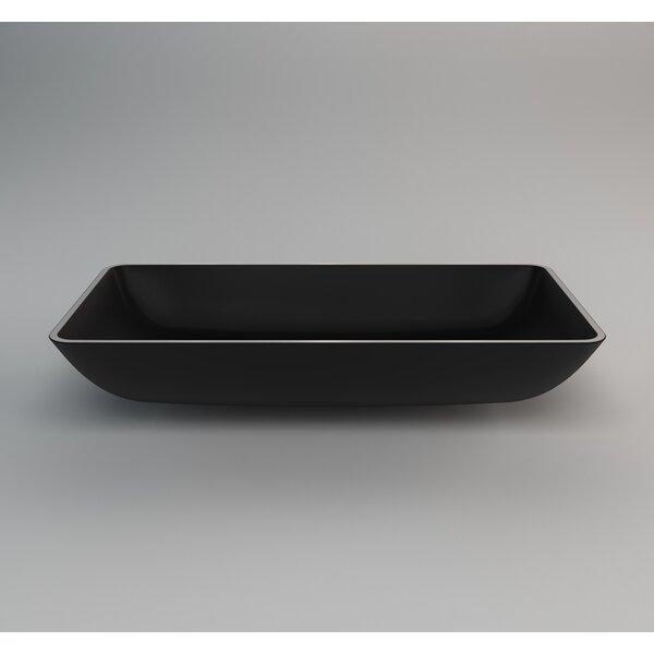 Nek Rectangular Vessel Bathroom Sink by Maestro Bath