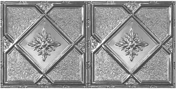 Victorian 2 ft. x 4 ft. Tin-plated Steel Tile by C