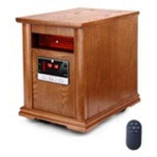 1,500 Watt Portable Electric Infrared Cabinet Heater with Remote Control by Optimus
