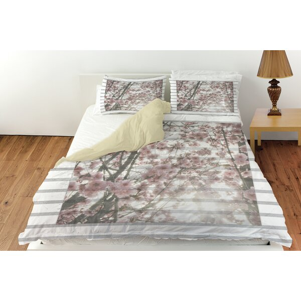 Cherry Blossom Stripes Duvet Cover Collection