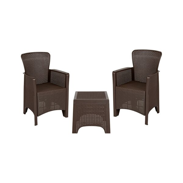 Artis Outdoor 3 Piece Seating Group by Charlton Home