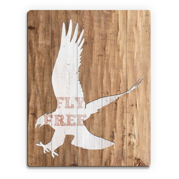 Wood Slats Fly Free Graphic Art on Plaque by Click Wall Art