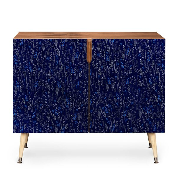 Blue Silk Accent Cabinet by East Urban Home East Urban Home