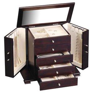 Velvet Mirrored Jewelry Box by Three Posts