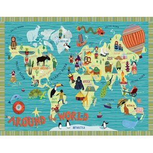 Around the World Canvas Art by Oopsy Daisy