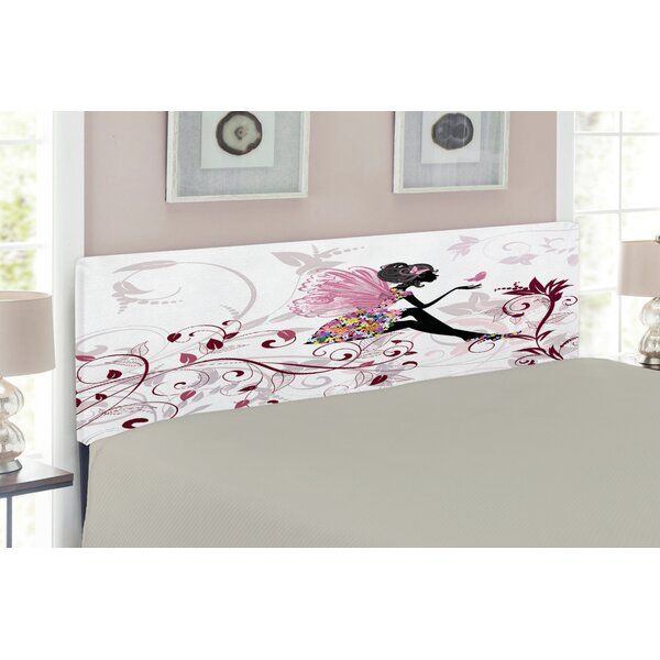 Flower Fairy with Butterflies Wings Upholstered Panel Headboard by East Urban Home East Urban Home