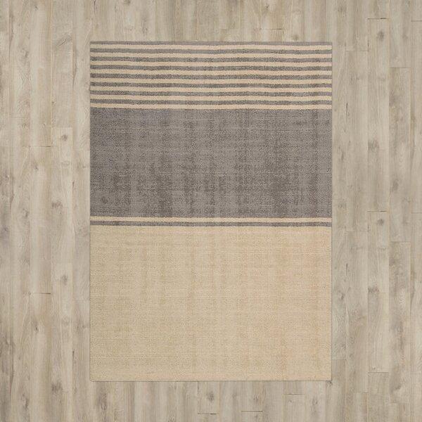 Tundra Handmade Beige/Gray Area Rug by Calvin Klein