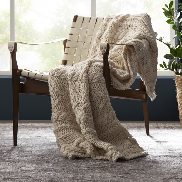 Audrina Textural Hand-Knit Throw by Eider & Ivory