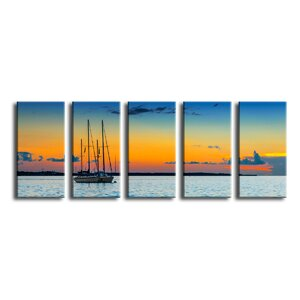 Quiescent' 5 Piece Photographic Print on Canvas Set by Latitude Run
