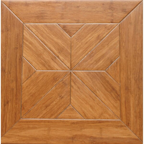 Estate Parquet Engineered 15.75 x 15.75 Bamboo Wood Tile by Islander Flooring