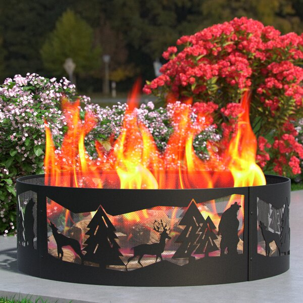 Wilderness Steel Wood Burning Fire Ring by Regal Flame