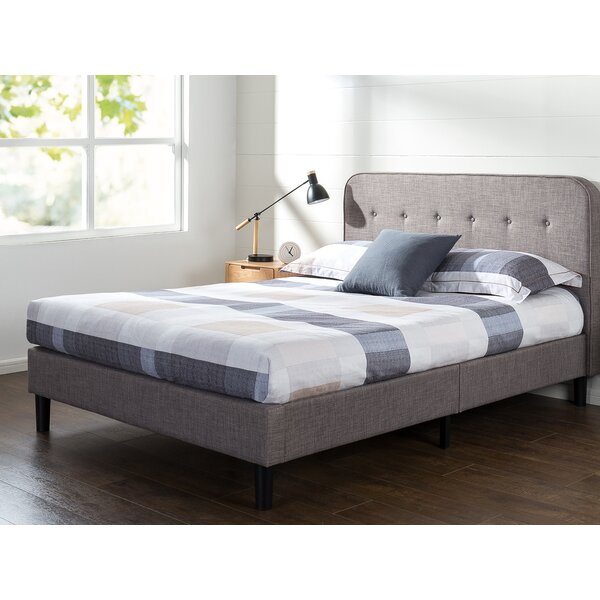 Bierman Curved Upholstered Platform Bed by Wrought Studio