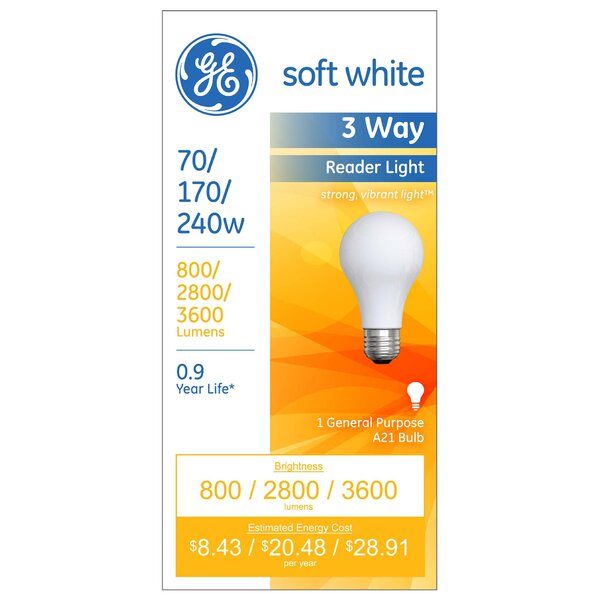 70W Incandescent Light Bulb by GE