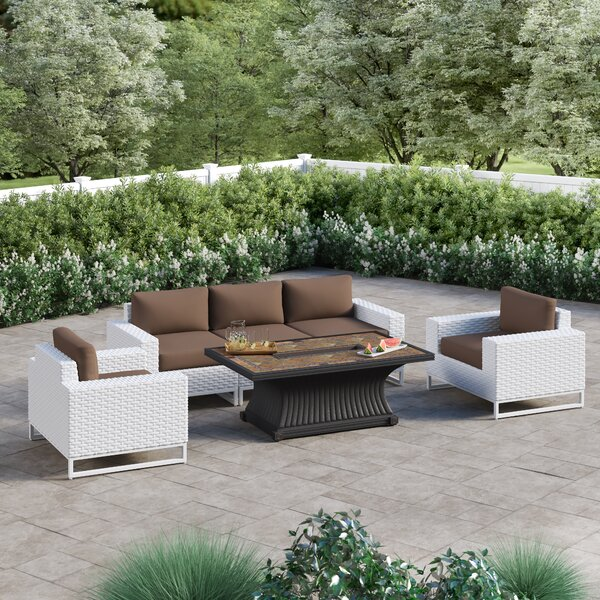 Menifee 6 Piece Sofa Seating Group with Cushions by Sol 72 Outdoor Sol 72 Outdoor
