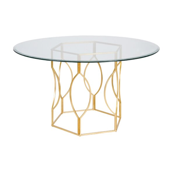 Hex Dining Table by Worlds Away