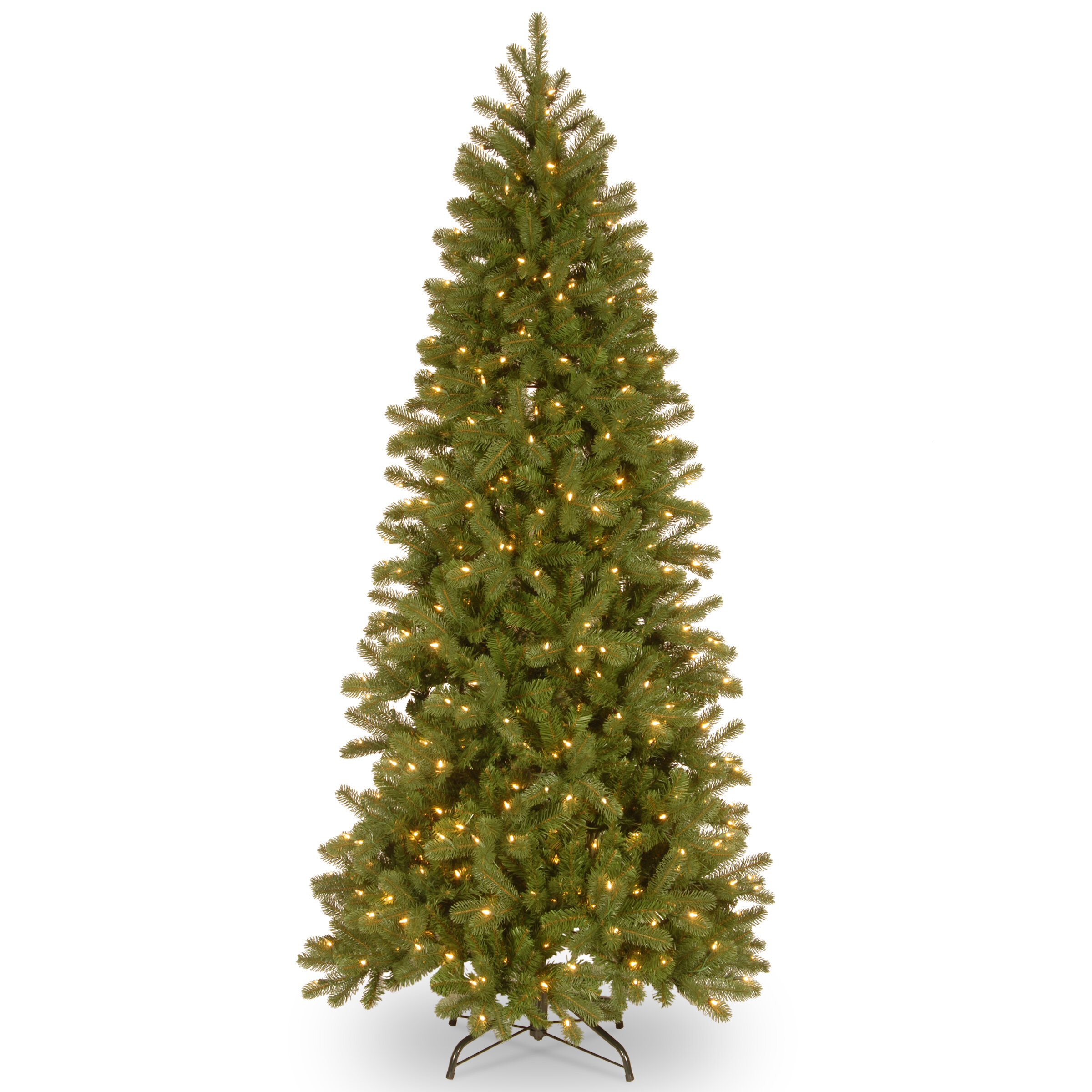 Downswept Douglas Green Fir Artificial Christmas Tree With 1200 Clear White Lights