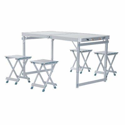 Freeport park spivey outdoor folding aluminum picnic table wayfair spivey outdoor folding aluminum picnic table watchthetrailerfo