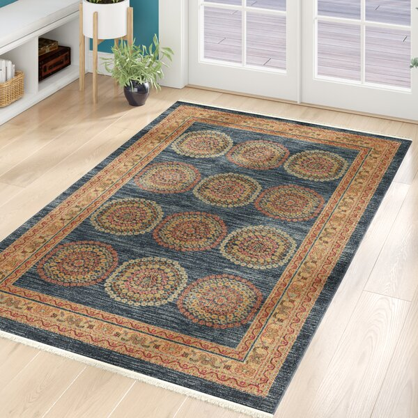 Virginia Blue/Brown Area Rug by World Menagerie
