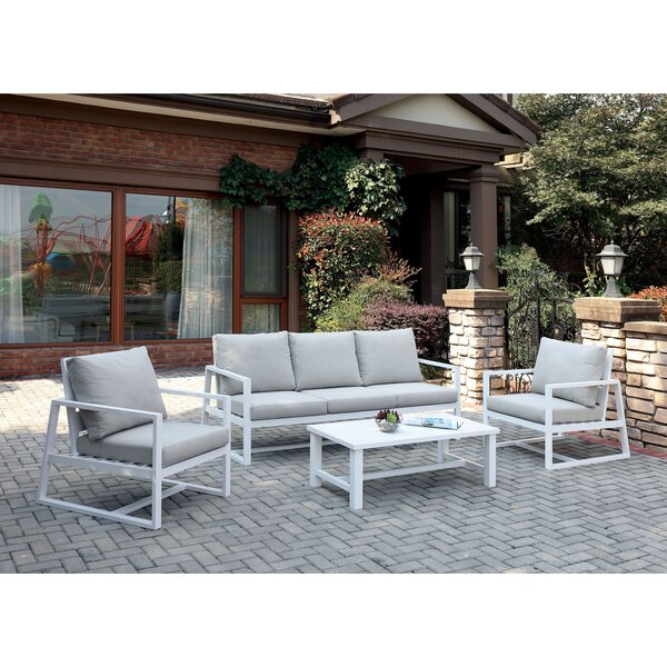 Branham 4 Piece Sofa Seating Group with Cushions by Brayden Studio