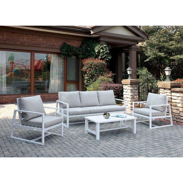 Branham 4 Piece Sofa Seating Group with Cushions by Brayden Studio