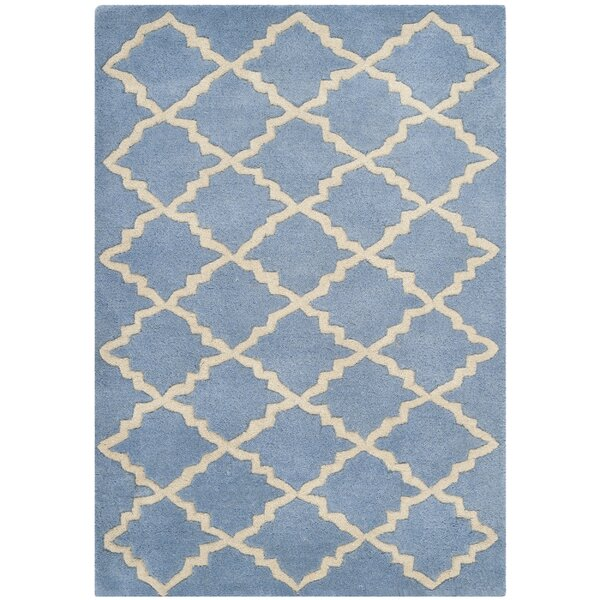 Wilkin Blue Cream Area Rug by Wrought Studio