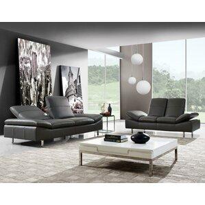 Aedan 2 Piece Leather Living Room Set