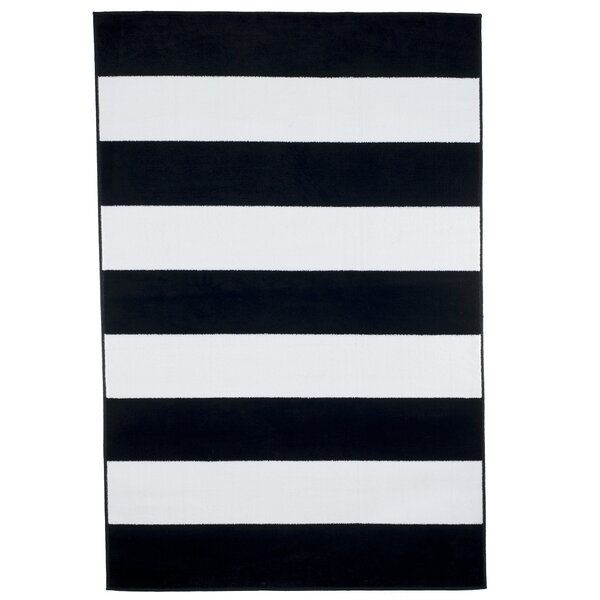 Bold Stripe Black Area Rug by Plymouth Home