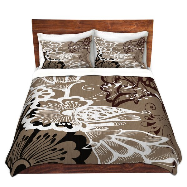Coffee Flowers Duvet Cover Set