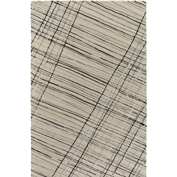 Flying Colors Criss-Cross Hand-Tufted Light Gray Area Rug by emma at home by Emma Gardner