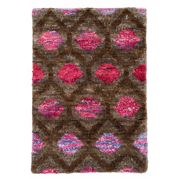 Gem Hand Knotted Brown/Pink Area Rug by Dash and Albert Rugs