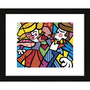 'Swing' by Romero Britto Framed Graphic Art by McGaw Graphics