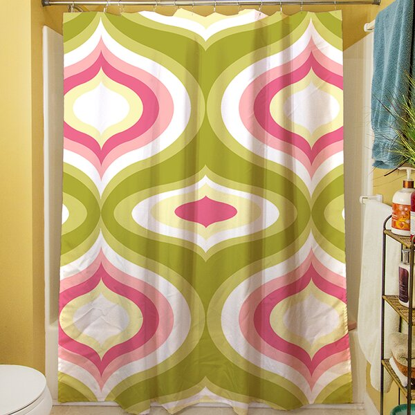 Britney Geo Shower Curtain by Manual Woodworkers & Weavers