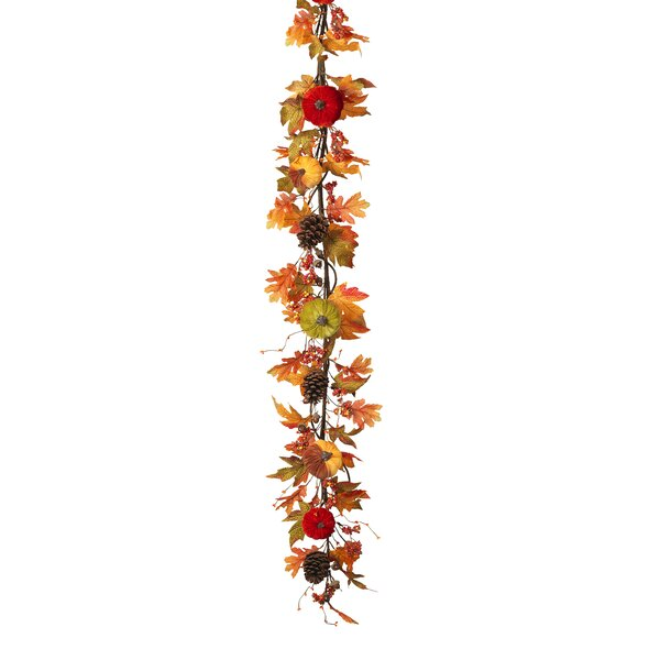 Velvet Pumpkin Garland by The Holiday Aisle