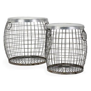 2 Piece Susanna Wire End Table Set by August Grove