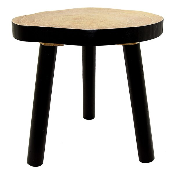 Leming Wood Accent Stool by Union Rustic