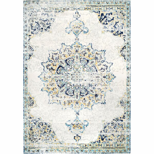 Darchelle Blue/Beige Area Rug by Mistana