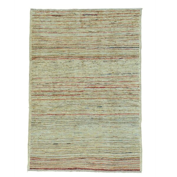 One-of-a-Kind Detrick Transitional Hand-Knotted Beige Area Rug by Corrigan Studio