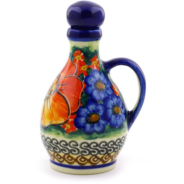 Polish Pottery Bottle Cruet by Polmedia