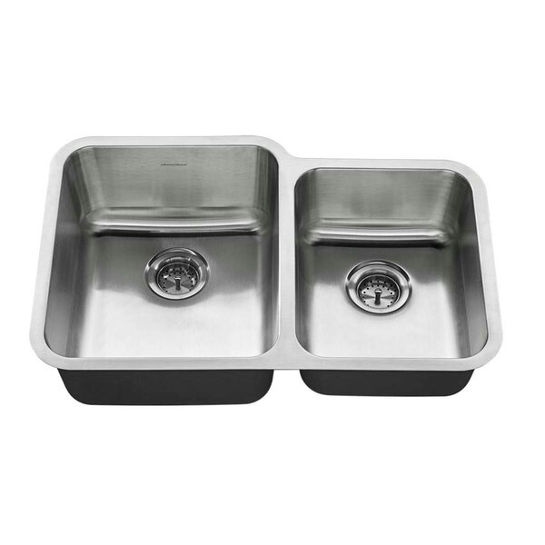 Prevoir 31 L x 20 W Double Basin Undermount Kitchen Sink by American Standard
