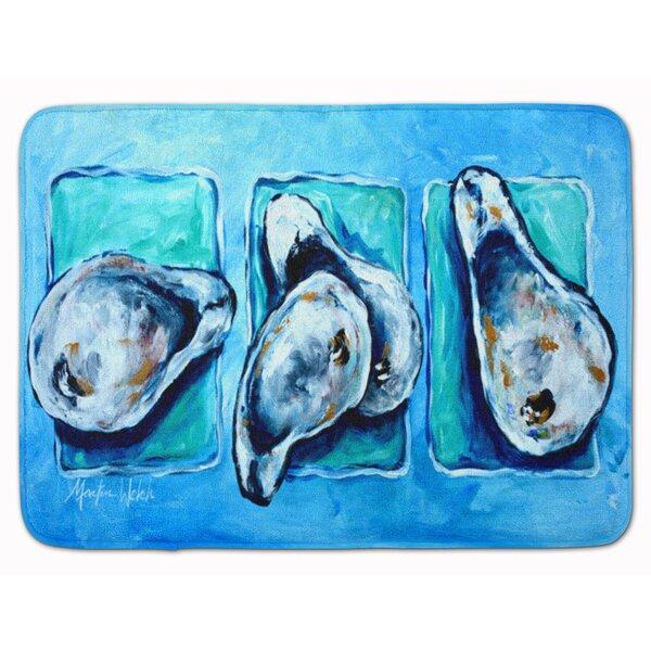 Seagrove Oysters Rectangle Microfiber Non-Slip Bath Rug