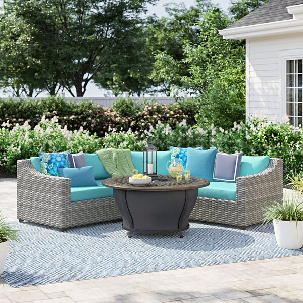 Falmouth 4 Piece Sectional Seating Group with Cushions by Sol 72 Outdoor