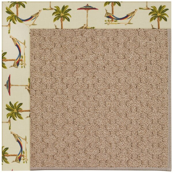 Lisle Machine Tufted Beige Indoor/Outdoor Area Rug by Longshore Tides